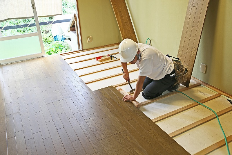Flooring construction example